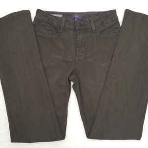NYDJ Women Marilyn Straight Leg Brown Jeans 6